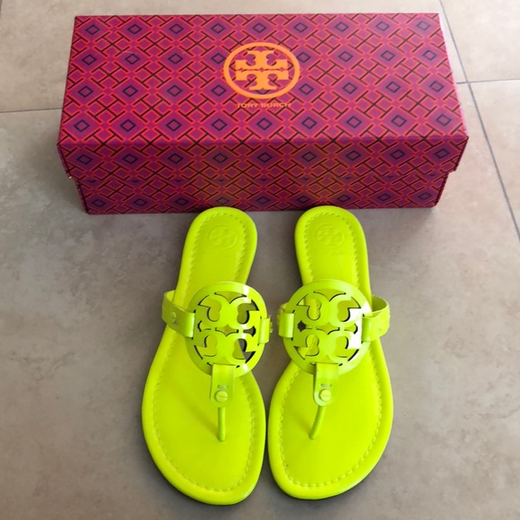 1845acf68eed8 New Authentic Tory Burch Neon Yellow Miller Sandal